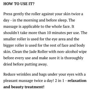 KRASR Makeup - KRASR Natural Chi Jade Roller Beauty Therapy NIB